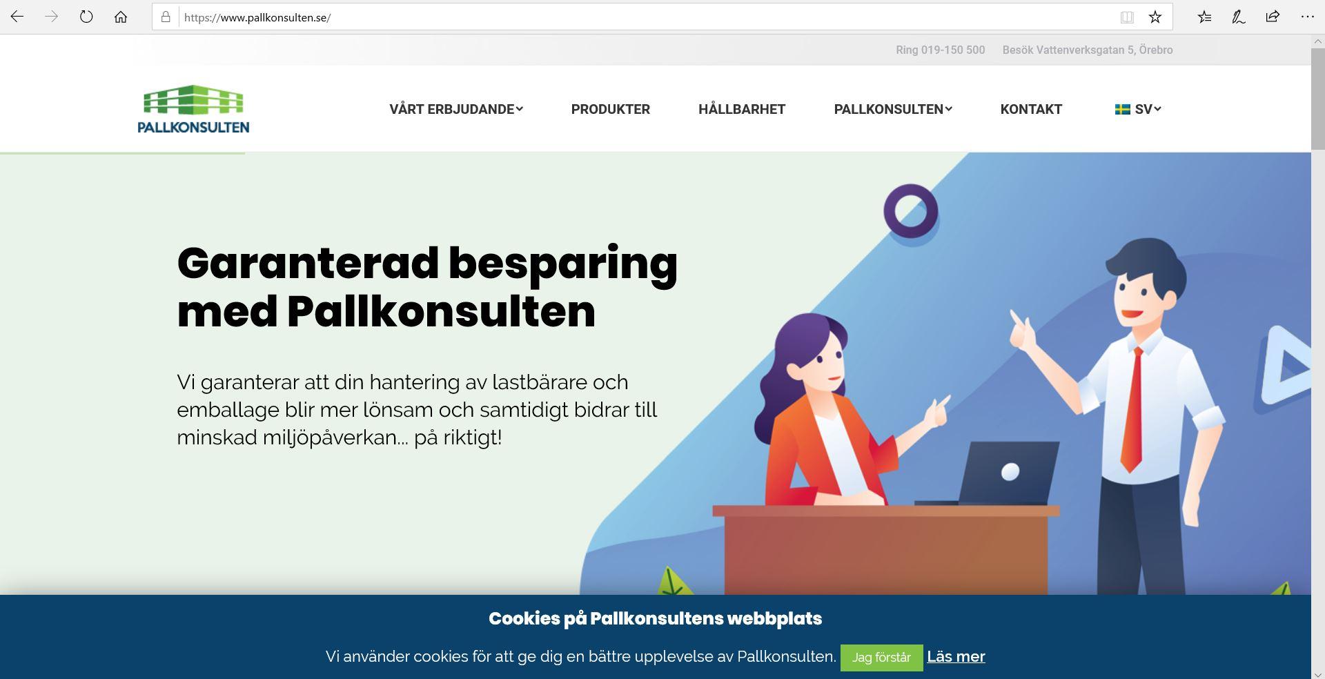 Nodia levererar ny webbplats till Pallkonsulten
